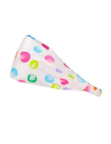 maximo Baby-Mädchen Haarband Mütze, Mehrfarbig (Weiß-Multicolor Punkte 1), (Herstellergröße: 47/49)
