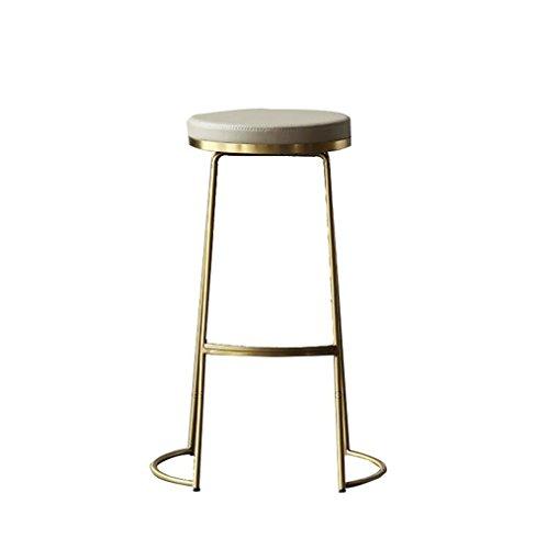 Elegce-Z kruk van leer, comfortabele set van ijzer, voor bar, stoel, creatief, eenvoudig, rond, van metaal, robuust