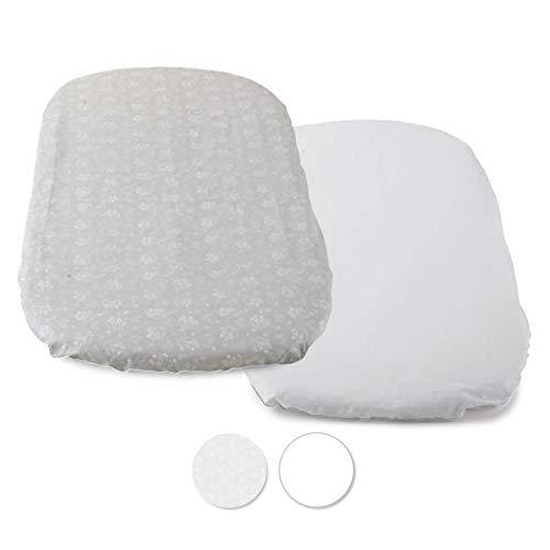 Chicco - Set de sábanas 2 Piezas para Baby Hug 4 en 1, tamaño 77 x 39 cm (Accesorio), Color Gris (Grey Fox), Unisex
