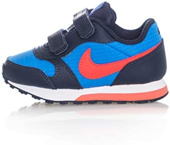 Nike MD Runner 2 (TDV) - Zapatillas, Bebé Unisex, Multicolor (Photo Blue/Bright Crimson/Obsidian/White 412) 19.5 EU
