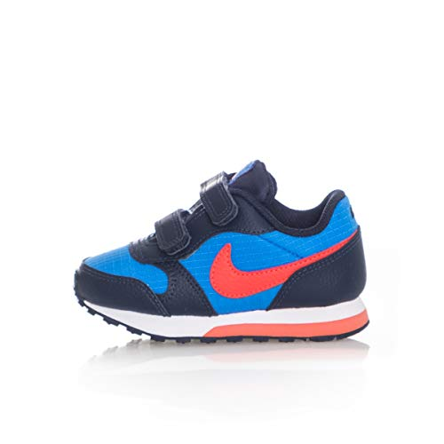 Nike MD Runner 2 (TDV), Pantofole Unisex-Bambini, Multicolore (Photo Blue/Bright Crimson/Obsidian/White 412), 19.5 EU