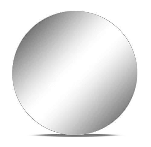 """Set of 12 10"""" Round WGV Brand Glass Mirrors for Wedding & Banquet Centerpieces (Sanded Anti-Chipping Edges)"""