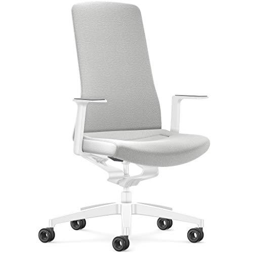 Interstuhl Pure Fashion Edition – Der Bürostuhl passt Sich an Gewicht und Bewegung des Nutzers an – ausgestattet mit der nachgewiesenen ergonomischen Smart-Spring Technologie (Weiß/Weiß)