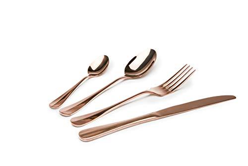 Excelsa Copper service 24 couverts, acier 18/0, effet cuivre