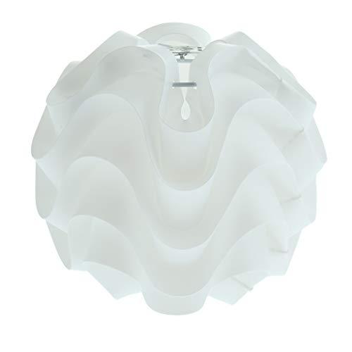 FLAMEER Cubierta de Lámpara Colgante Redonda Moderna para Cabezal E27 - Blanco