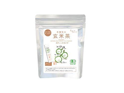 JAS認定 無農薬 向島園の粉末玄米茶 0.6g×25袋