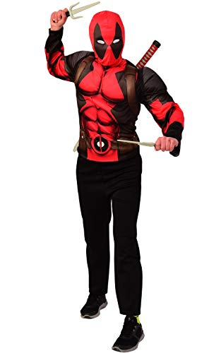 Imagine by Rubie's Boys Deadpool Child's Costume Top and Weapon Backpack Kit, As Shown, Large