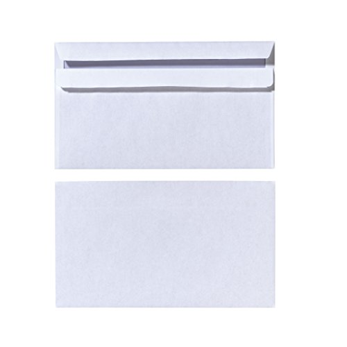 Herlitz Briefumschlag DIN Lang Selbstklebend, 25 Stück mit Innendruck in Folienpackung, eingeschweißt, weiß