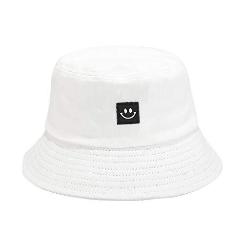 Drawihi Fischerhut aus Baumwolle, faltbar, für Fischer, Strand, Urlaub, Schule, Einkaufen, Wandern Gr. Einheitsgröße, weiß