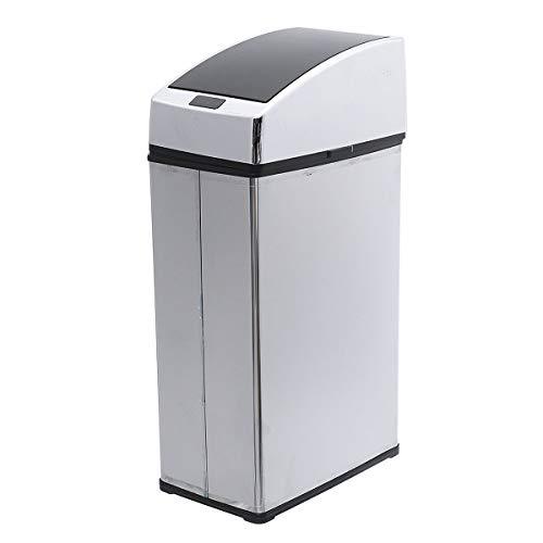 A-hyt soptunna 3L/4 l automatisk induktiv hälsosam avkänning avfallsbehållare skräpförvaring papperskorg hem kök kontor soptunna för kontor plats badrum kök (färg: 4L)