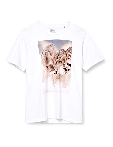 BOSS Mens Tomio 4 T-Shirt, White (100), M