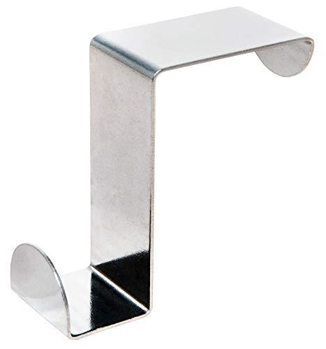 Briliant Feet ODH40 - Extra Tough Stainless Steel Over Door Hooks - 25x1mm Cross Section - Te gebruiken met Deuren tot 20mm of 40mm Dikke - Ook te gebruiken met Kasten en Laden