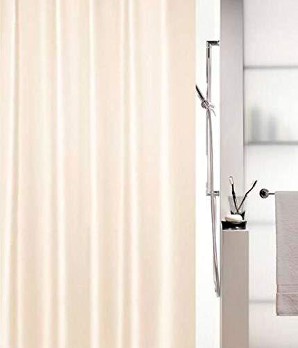 """Spirella Anti-Schimmel Duschvorhang - Anti-Bakteriell, waschbar, wasserdicht, Polyester, """"Altro"""" 180x200cm Champagne Beige"""