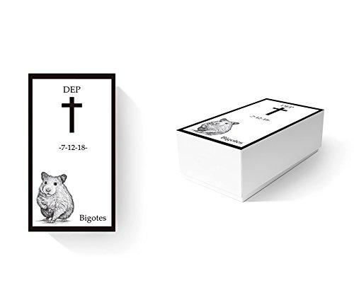 Ataúd Para Animales Ecológico Hámster 100% personalizado   Medidas 12,00 x 8,00 cm x 8,00 cm   Cartón microcanal simple 1,6 mm   Impresión completa y personalizada   Ligero, resistente