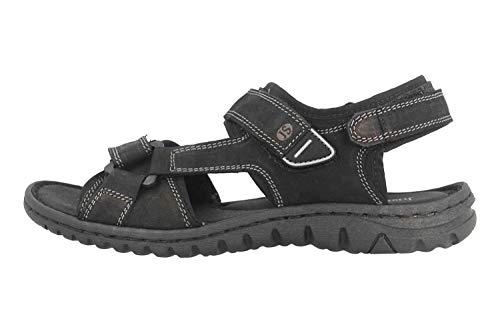 Josef Seibel Damen Sandalen Lucia 19, Frauen Trekking Sandalen, Outdoor-Sandale Sport-Sandale aussensteg 3-Fach Klett weibliche,schwarz,42 EU / 8 UK