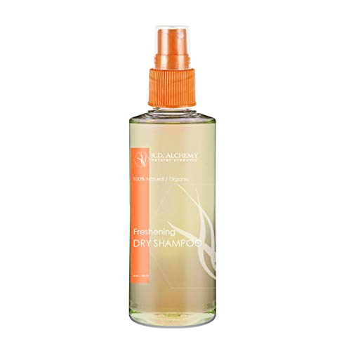 100% Natural & Organic Dry Shampoo Spray. Natural Cleanse for Oily, Flat, & Stinky Hair. Colloidal Oatmeal + St. John's Wort & more Plumps Roots & Volumizes Hair while Absorbing Oil.
