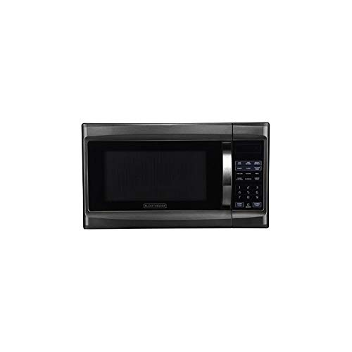 Black+Decker 1000 Watt 1.3 Cubic Feet Microwave with Digital Touch Controls and Display, Black Stainless Steel