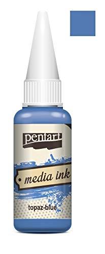 Zita`s Creative Mixed Media Tinte 20ml - Topaz Blue. Media Ink, Alcohol Ink, Farbtinte