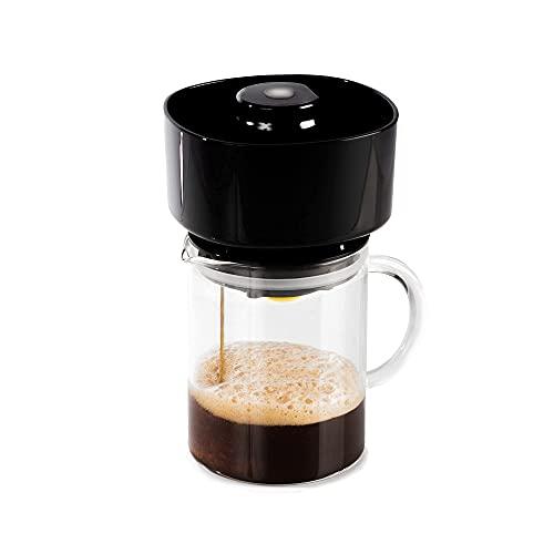 FrankOne Kaffeemaschine & Kaltbrühmaschine - Klein & Tragbar 14 oz Kaffeebereiter mit VacTec™