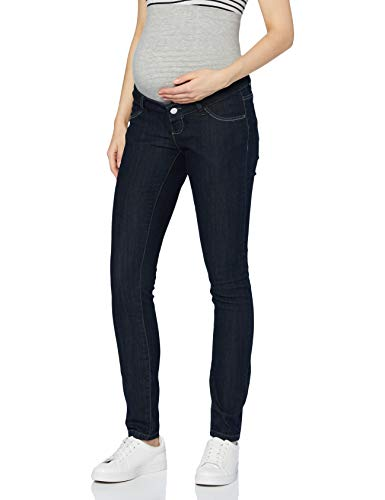 MAMALICIOUS Damen MLJULIA Unwashed Slim A. Jeans, Dark Blue Denim, 26/32