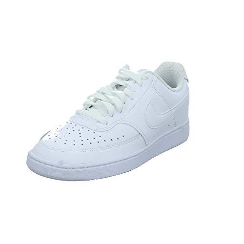 Nike Court Vision Lo, Sneakers Basses Homme, Blanc (White/White-Black 100), 38.5 EU