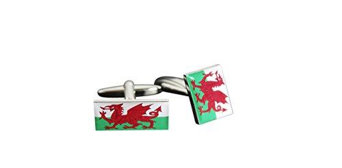 Flaggenfritze® Manschettenknöpfe Fahne / Flagge Wales