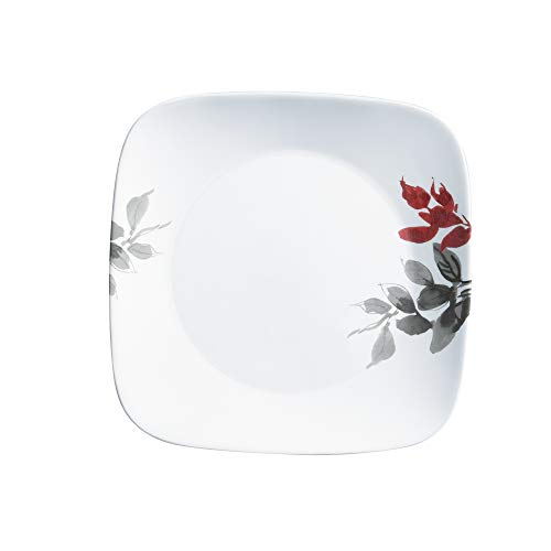 Corelle Boutique Square Dinner Plate Kyoto Leaves 10.5in (26.7cm) 6 Pack