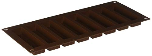 Silikomart 26.184.77.0065 Moule à Chocolat 'My Snack', Silicone, Marron, 32,5 x 12,5 x 2 cm