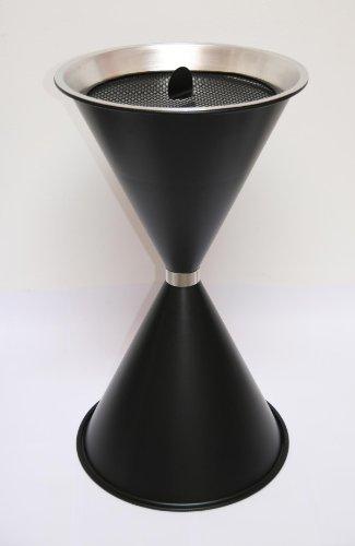 Standaschenbecher Diabola 71x40 cm inkl. 25 kg Quarzsand, schwarz, Marke: Szagato, Made in Germany (Kegel Ascher Standaschenbecher Aschenbecher Standascher Sanduhr)