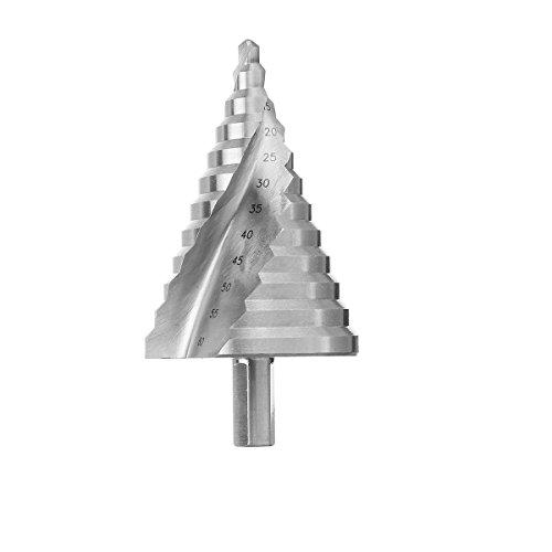 CEFEPH Profi Stufenbohrer HSS Schälbohrersatz für Edelstahl Metall Holz Kunststoff (6-60mm)