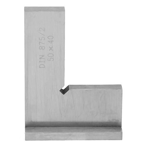 Rätvinklig linjal, 90 graders rätvinklig linjal, högprecisions kolstål platt vinkellinjal, med sittande ingenjörsverktyg, för verkstadsarbetare för att skapa självtester (nr 1)