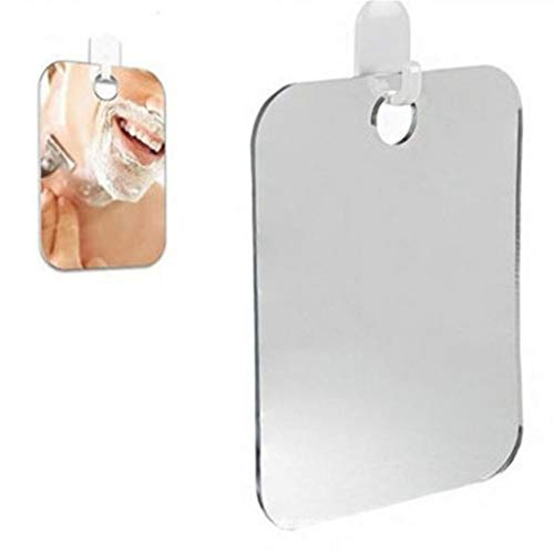 Bontand Dusche Spiegel, Fogless Rasierspiegel 13 * 17cm Wandbehang Spiegel Schminkspiegel Anit-Fog Dusche Badezimmer-Spiegel