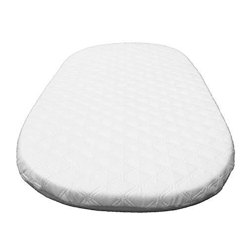 Suzy Microfibre Hypoallergenic Crib Mattress to fit MJ Mark Miranda Wicker Crib Size 85 x 52 x 4cm British Made