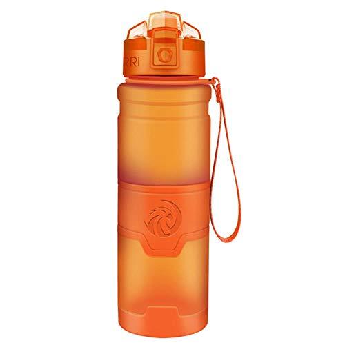 Ksde Meilleure Bouteille d'eau en Plastique Sans BPA Drinkware Tour de Randonnée Portable d'Escalade Camp Bouteilles Pour Gourde de de l'eau, Orange, 1000ml