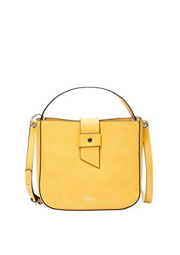 s.Oliver (Bags Damen 38.899.94.5818 Tasche Henkeltasche, Yellow, 10x25x26.5 cm