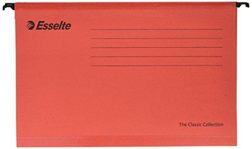 ESSELTE The Classic Collection - Cartelle sospese per cassetti 390-V / 3cm - Rosso - 90336