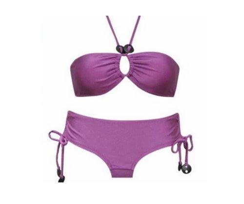 Young-Fashion Pants Bandeau & Neckholder -Push Up Bikini