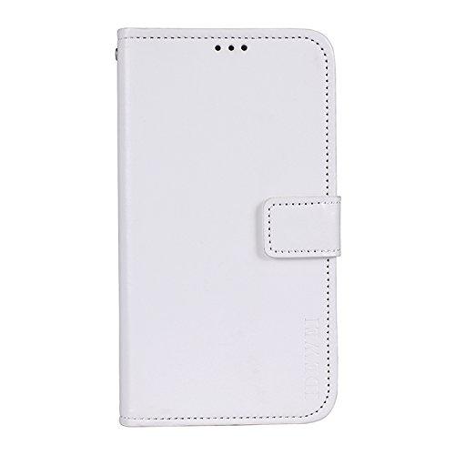 SHIEID Hülle für ASUS Zenfone 3 Deluxe ZS550KL Hülle Brieftasche Handyhülle Tasche Leder Flip Hülle Brieftasche Etui Schutzhülle für ASUS Zenfone 3 Deluxe ZS550KL (Weiß)