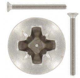 Preisvergleich Produktbild DIN 966 4.8 H galvanisch verzinkt Linsensenkschrauben mit Phillips-Kreuzschlitz H - Abmessung: M4x35 -H (1000 Stück)