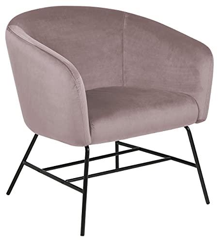 AC Design Furniture Sessel, Dusty Rose/Schwarz