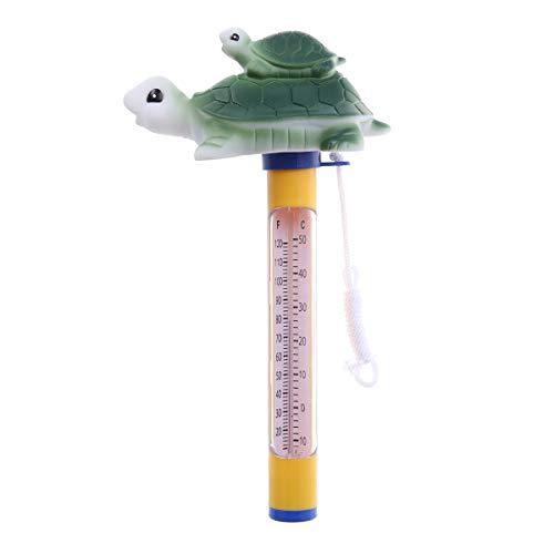 Yardwe Schwimmbecken-Thermometer Schwimmbäder im Innenbereich Aquarien Whirlpool Whirlpool (Turtle)