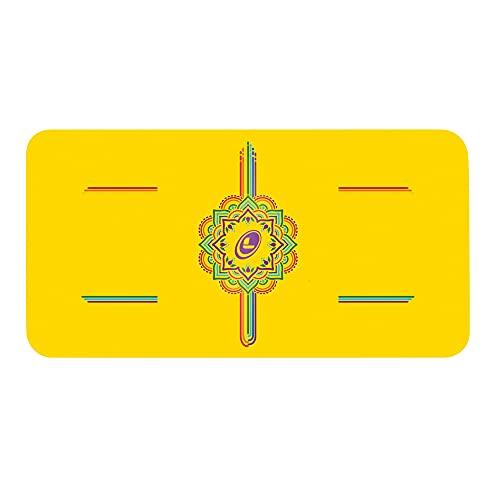 Liforme Yoga Pad - Esterilla de Yoga Antideslizante para Rodillas, Brazos y Codos - con Sistema Patentado De Alienación y Máximo Agarre, Eco-Friendly - Edición entintada - Arco iris amarillo