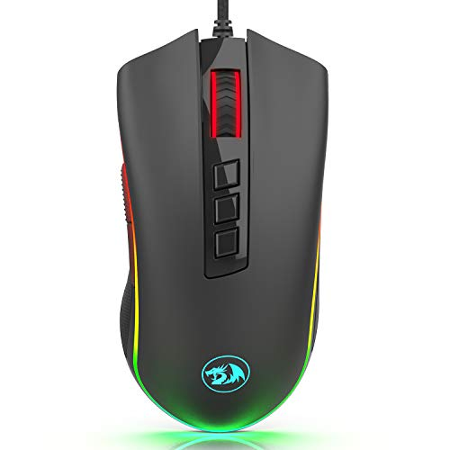 Redragon M711-FPS Cobra FPS Optical Switch (LK) Gaming Mouse with 16.8 Million RGB Color Backlit, 24,000 DPI, 7 Programmable Buttons
