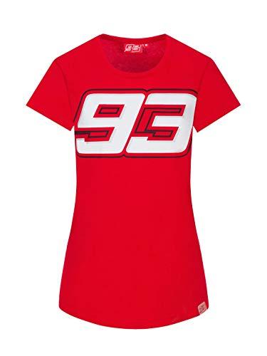 MM93 Offizielles MotoGP Gros 93 T-Shirt - Frau - Rot - L