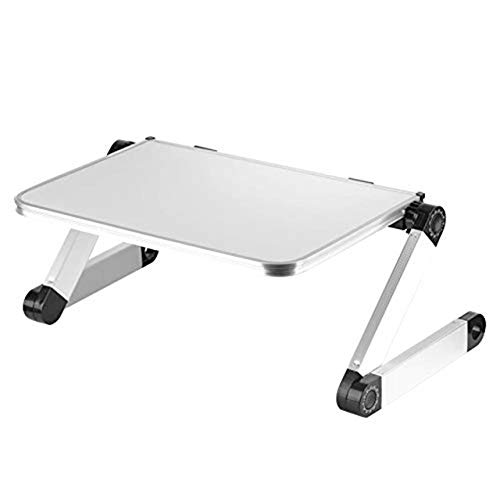 YHtech modern Hot SaleUniversal 360 adjustable portable folding laptop desk folding laptop holder Aluminum Stand Smart Phone Table Holder Used in small space to place mobile home study des