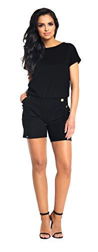 Lemoniade eleganter Jumpsuit in verschiedenen Varianten und Farben, Modell 2 Schwarz, Gr. M (36/38)