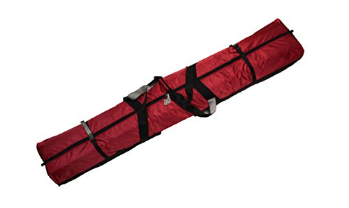 Select Sportbags 190 Fully Padded Double SKI Bag W/Wheels - RED