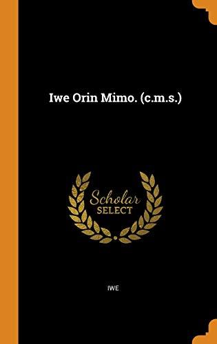 Iwe Orin Mimo. (c.m.s.)