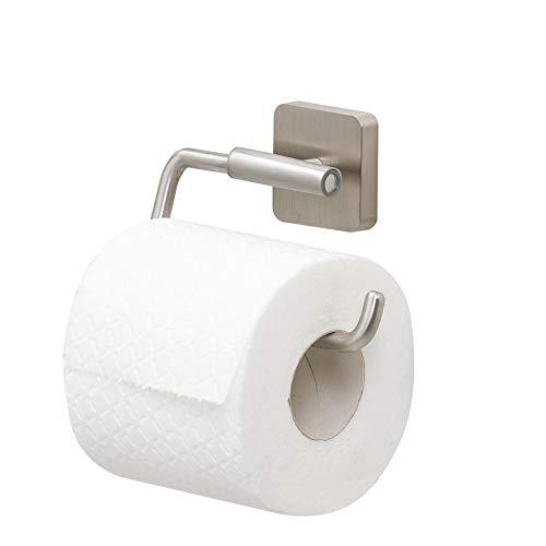 Tiger Onu Toilettenpapierhalter ohne Deckel, Edelstahl gebürstet, 13 x 8,8 x 3,5 cm
