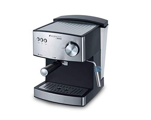 SOGO CAFETERA Combi SS-5665 Aromatti, 850W, 15/20 Bar, para Café Molido y Cápsulas E.S.E. Mono dosis, Vaporizador, Superficie Calienta Tazas, Brazo Doble Salida